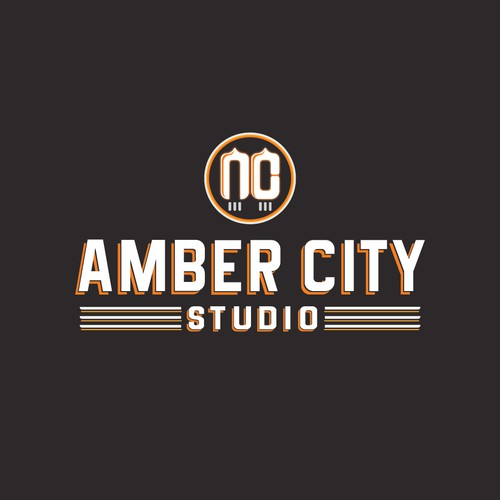 Amber City Studio logo design