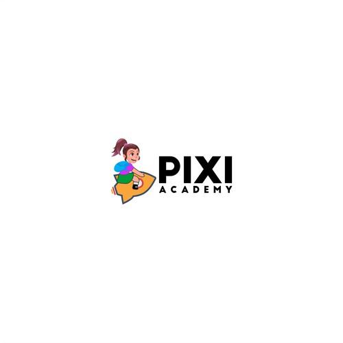 Fun Logo Concept for pixi academy