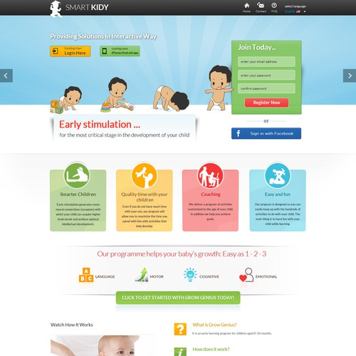 New website design wanted for Baby Clever