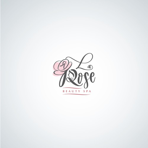 La Rose Beauty Spa Logo design