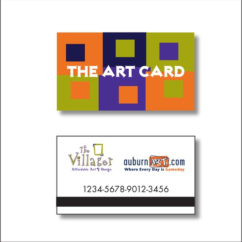 The Art Card - a gift card