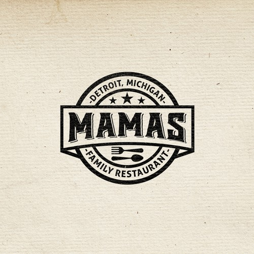 Vintage Logo for MAMA'S restaurant