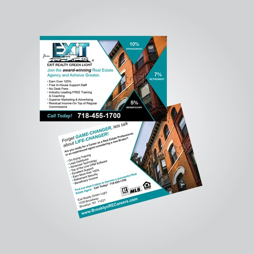 Exit Realty Green Light Postcard Concept