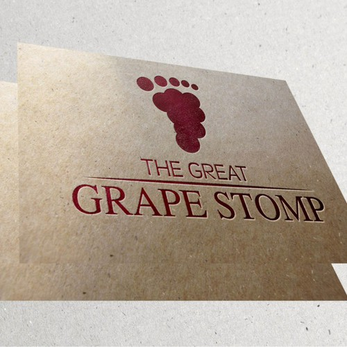 "Create a design for the ""Great Grape Stomp"""