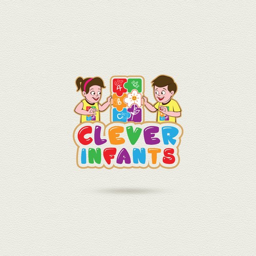 Design a playful logo for a childrens education series