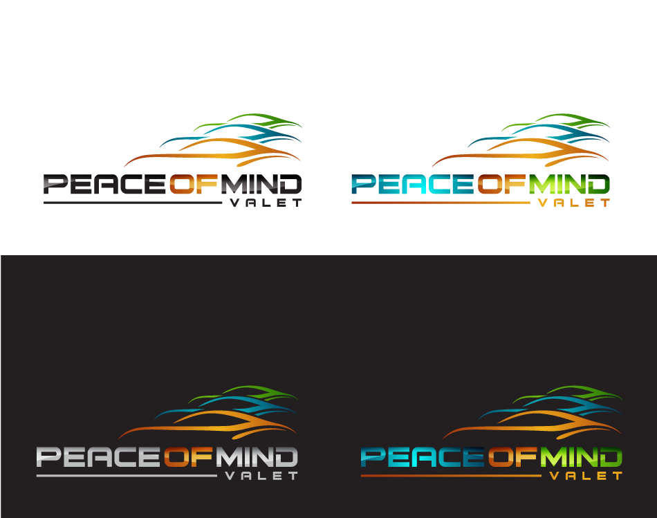 Create the next logo for Peace of Mind Valet