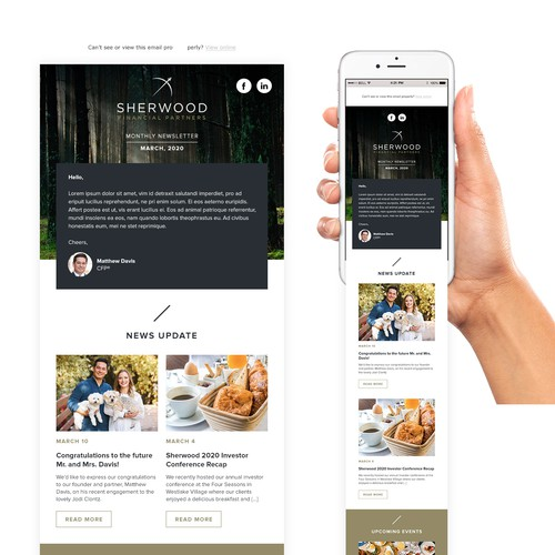 Sherwood Financial Email design