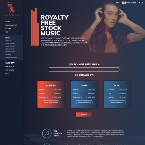 Royalty Free Stock Music Website