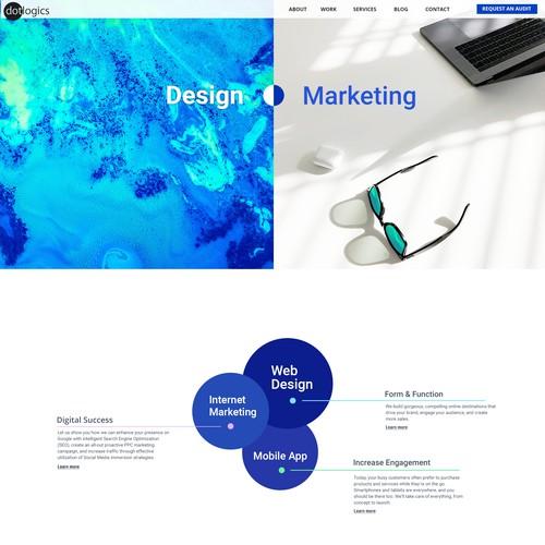 Homepage design for Web Design/Marketing Company