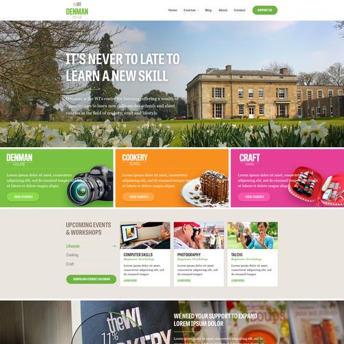 Website design for Denman College