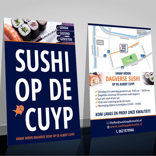 Flyer concept for sushi market