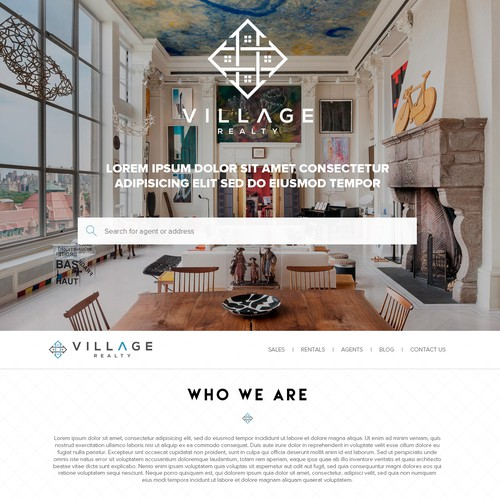 Design for a modern, upscale, tech-savvy real estate brokerage