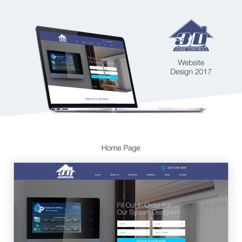 3D Home Controlling Website Design