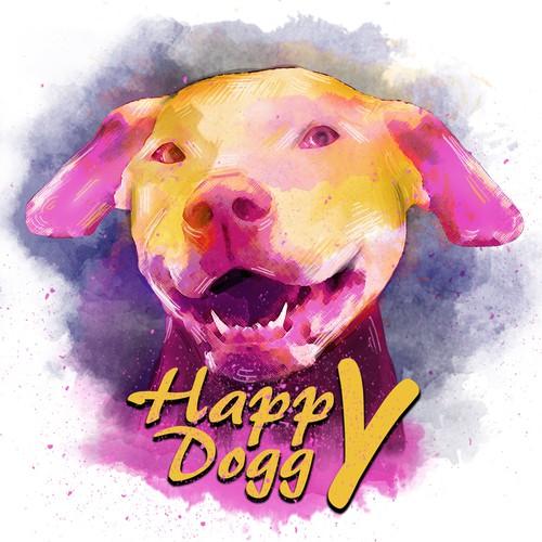 Illustration- Happy doggy