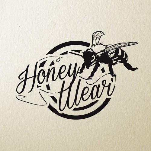 Erstellt eine coole Biene für einen trendy Onlinehandel als Bestandteil des Brandings