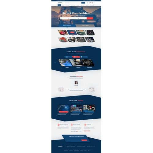 WordPress design for auto parts store
