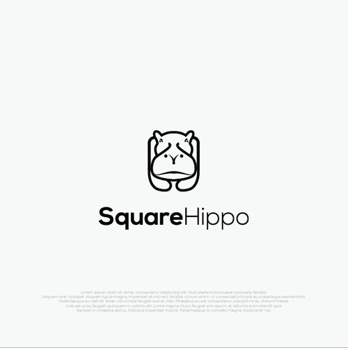 Monoline logo style for SquareHippo