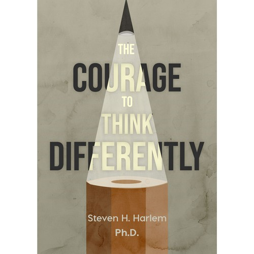 Creative book cover: The courage to think differently