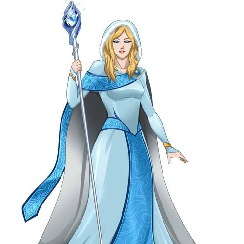 Design a nordic godess avatar