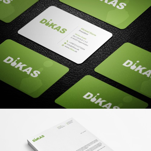 Creative/Professional German standard business card and letterhead! :)