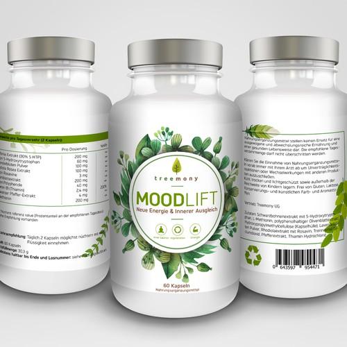 Supplement label design for Moodlift