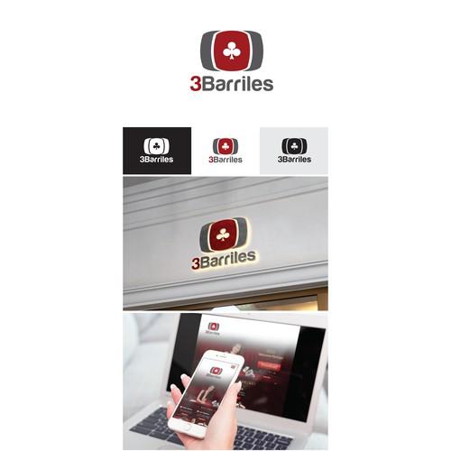 logo for a Poker Social Club & App 3Barriles