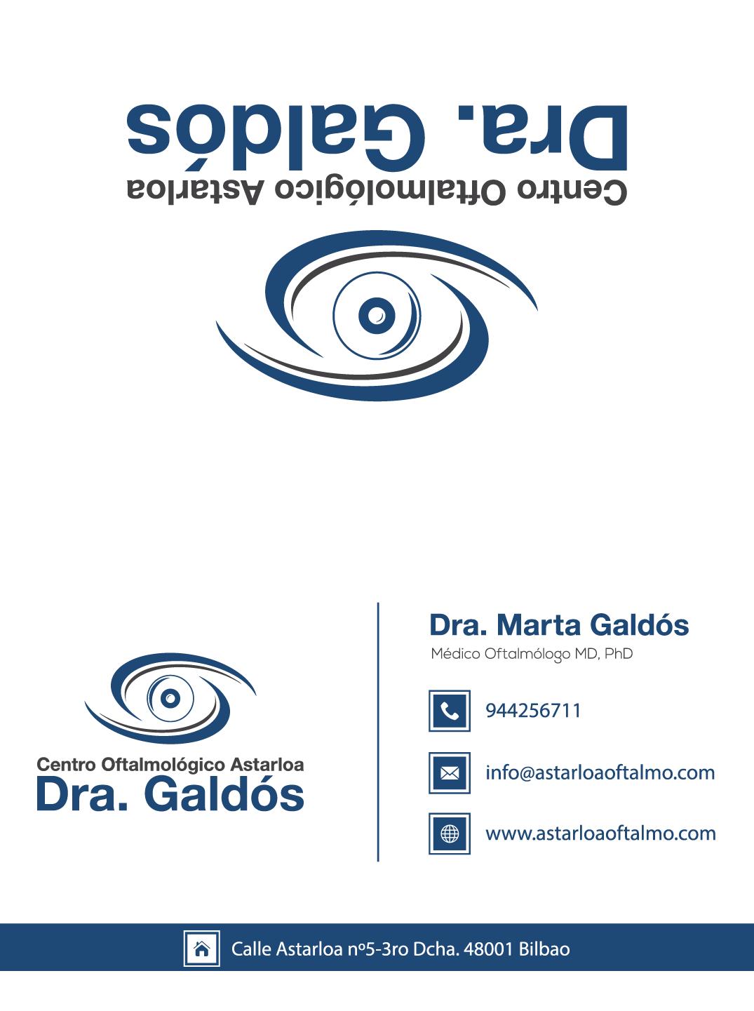Paperwork and business cards for Centro Oftalmológico Astarloa