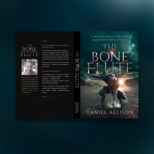 The Bone Flute Book Cover Design