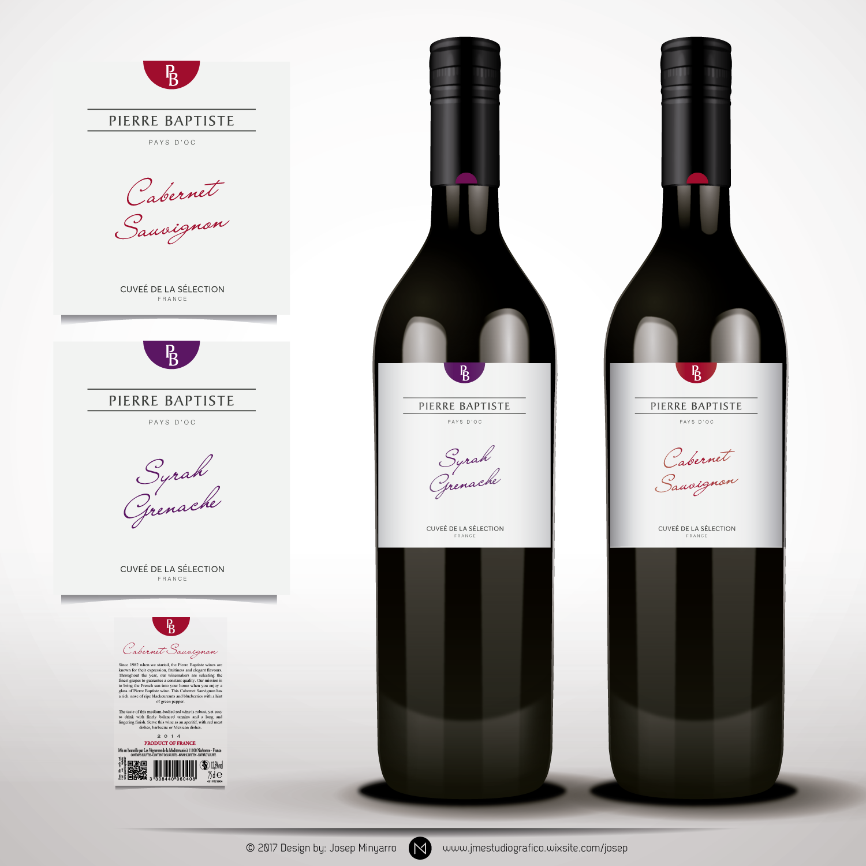 Design a new wine label for the Pierre Baptiste wine range!