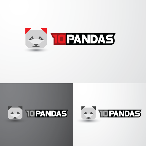 Create the next logo for 10 Pandas