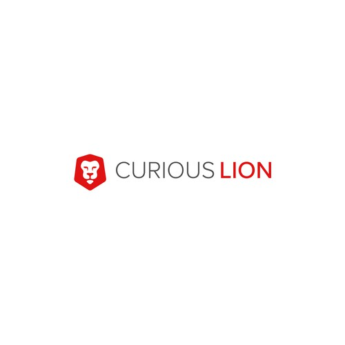 Curious Lion Logo Design