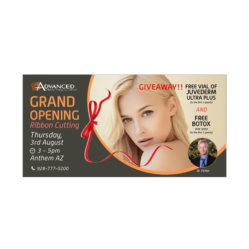 Flyer for Advanced Surgery Grand Opening