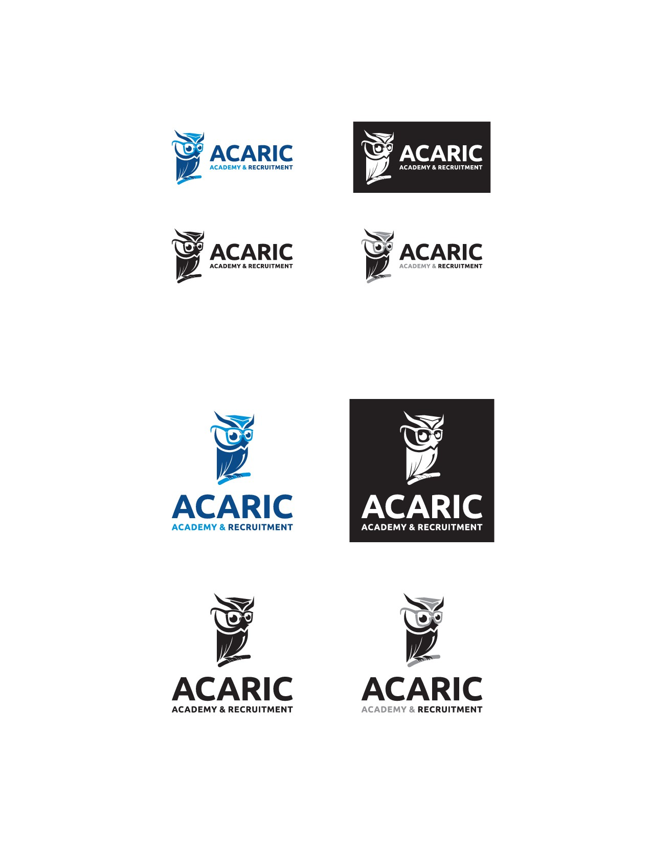 Modern and Geometric Logo Design for a Recruitment Agency/ 設立10年迎えた株式会社アカリクのために更なる進化を目指せるようなロゴをデザインしてください。