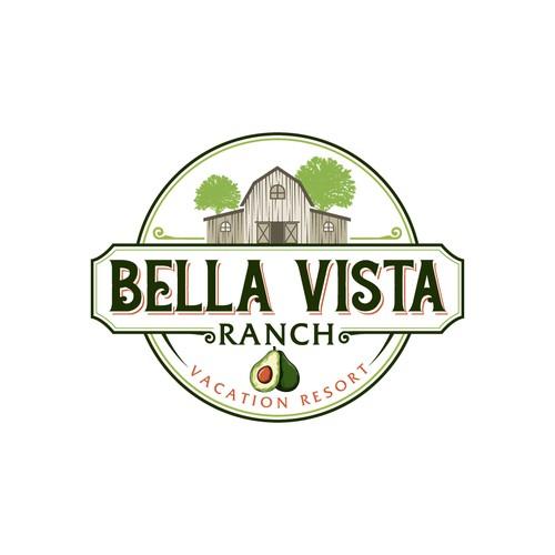 logo for luxury resort on avocado ranch in california