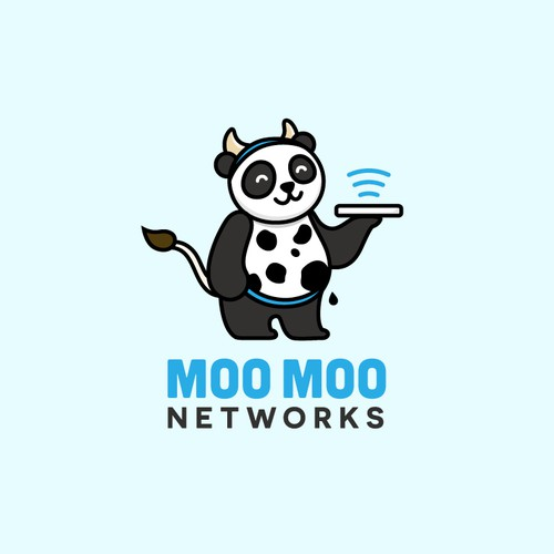 A fun, wacky, memorable logo for Moo Moo Networks