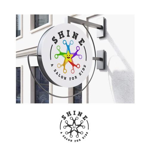 Logo for Shine - a salon for kids