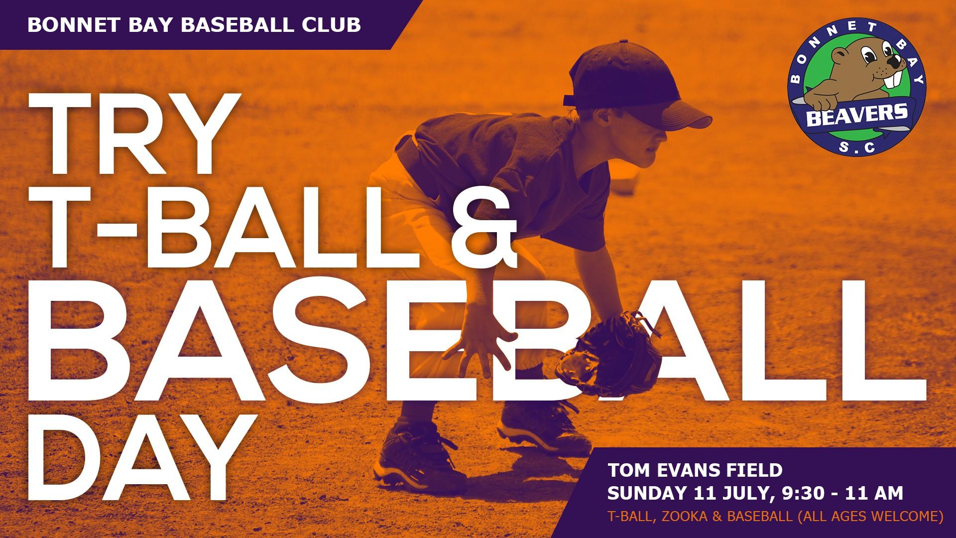 Bonnet Bay Beavers Try Baseball day.