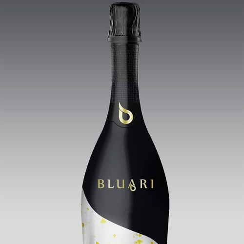 label for a bottle of Bluari Water.