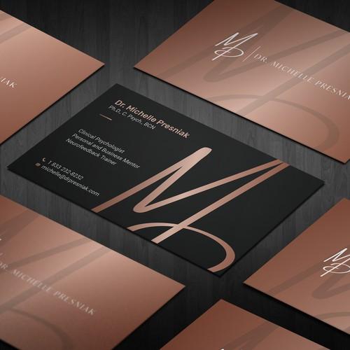 Modern Yet Warm Business Card Design for a Psychologist