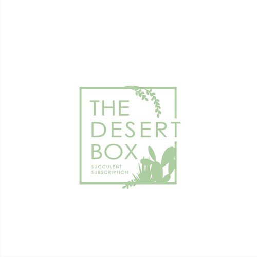 simple design for The Desert Box Succulents
