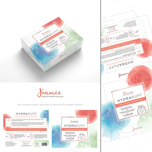 Carton box Packaging for new innovative cosmetic brand.