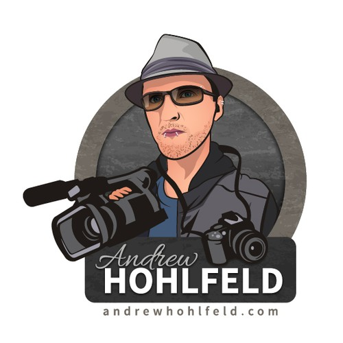 Caricature Logo for a Professional Photographer