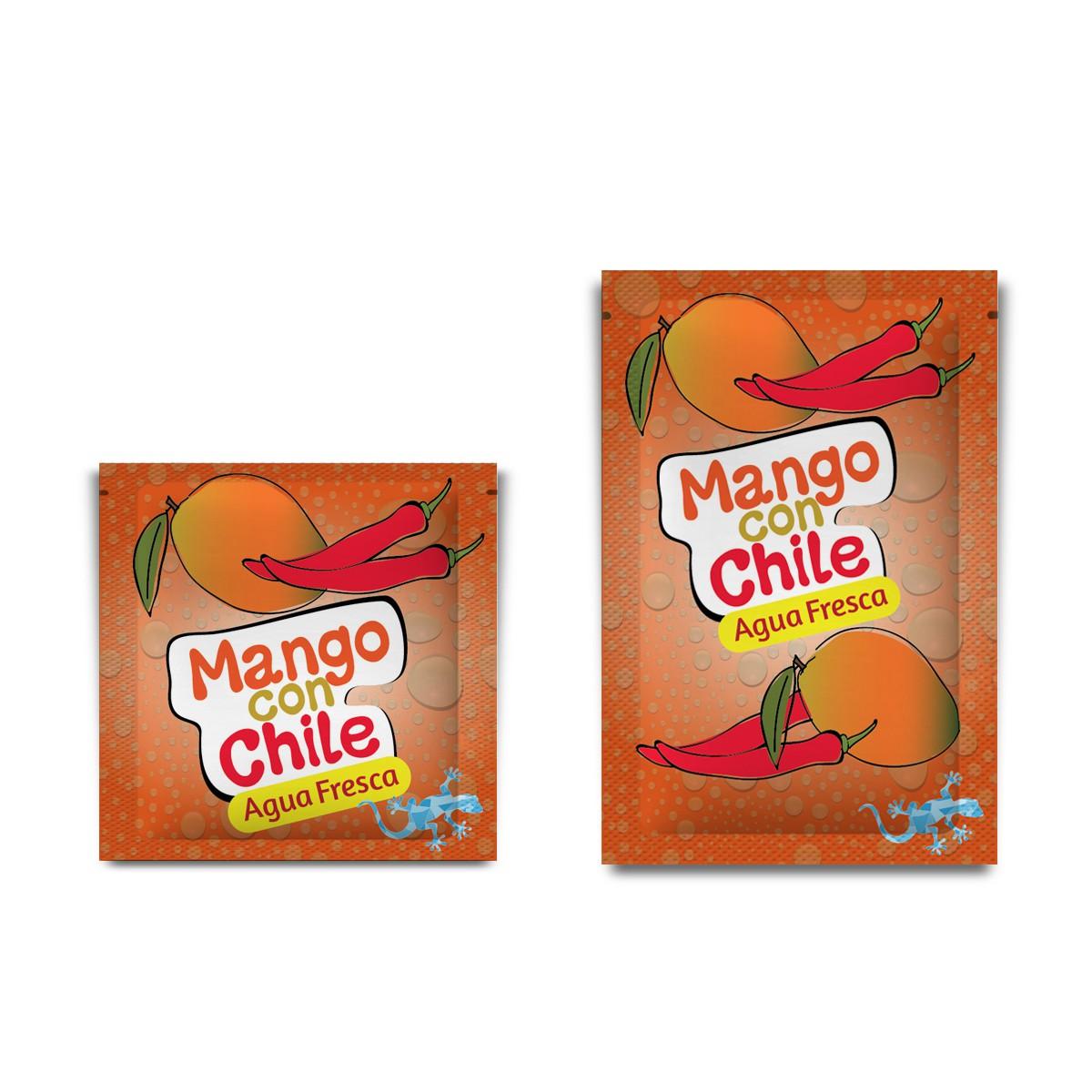 """Beverage flavor label for """"Strawberry Guava""""    """"Agua Fresca"""""""