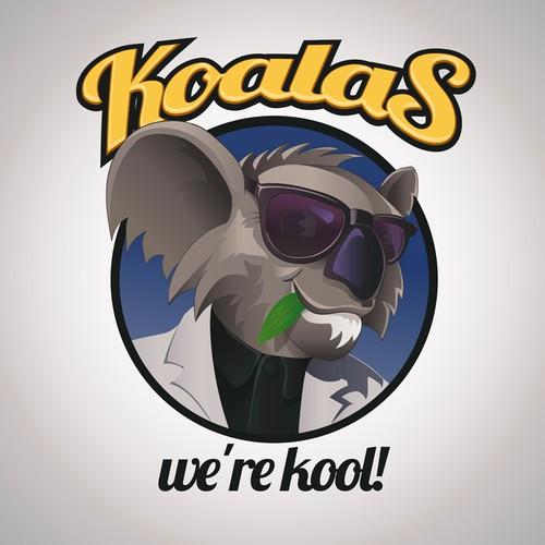 Koala character logo