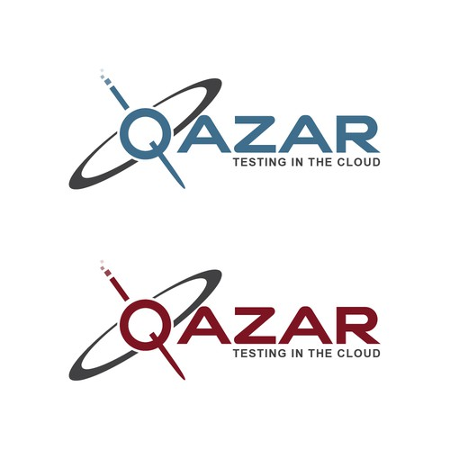 "Logo design for ""Qazar"" software testing company"