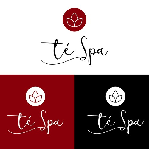 Logo for té Spa company