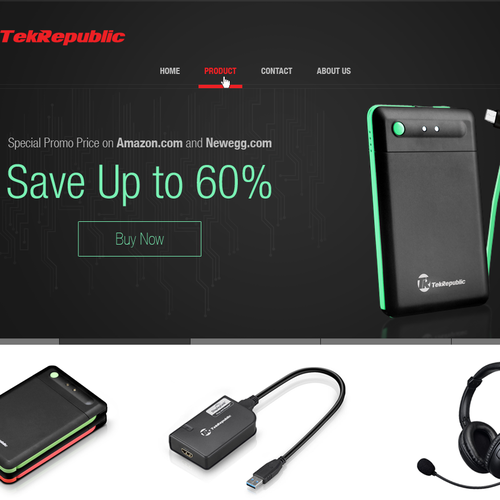 Landing Page for Awesome Consumer Electronics Company!
