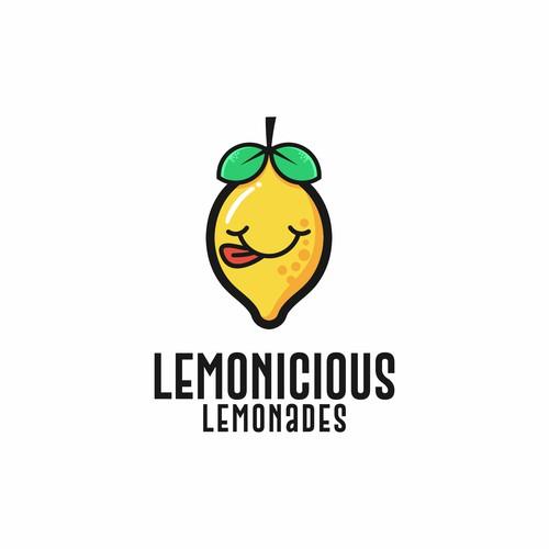 Design a logo for lemonade stand : Lemonicious Lemonades