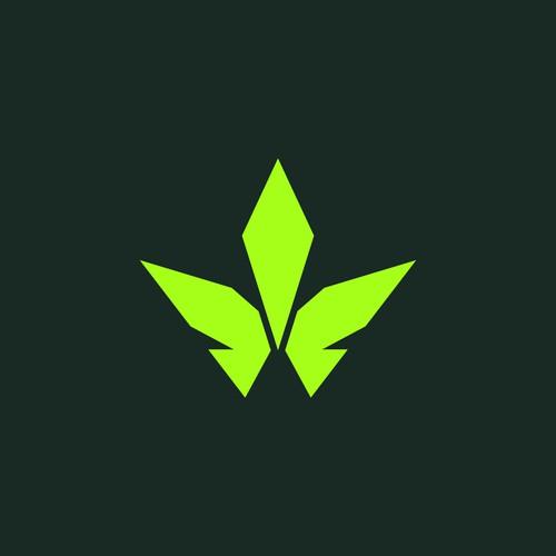 Logo for marijuana buds farm