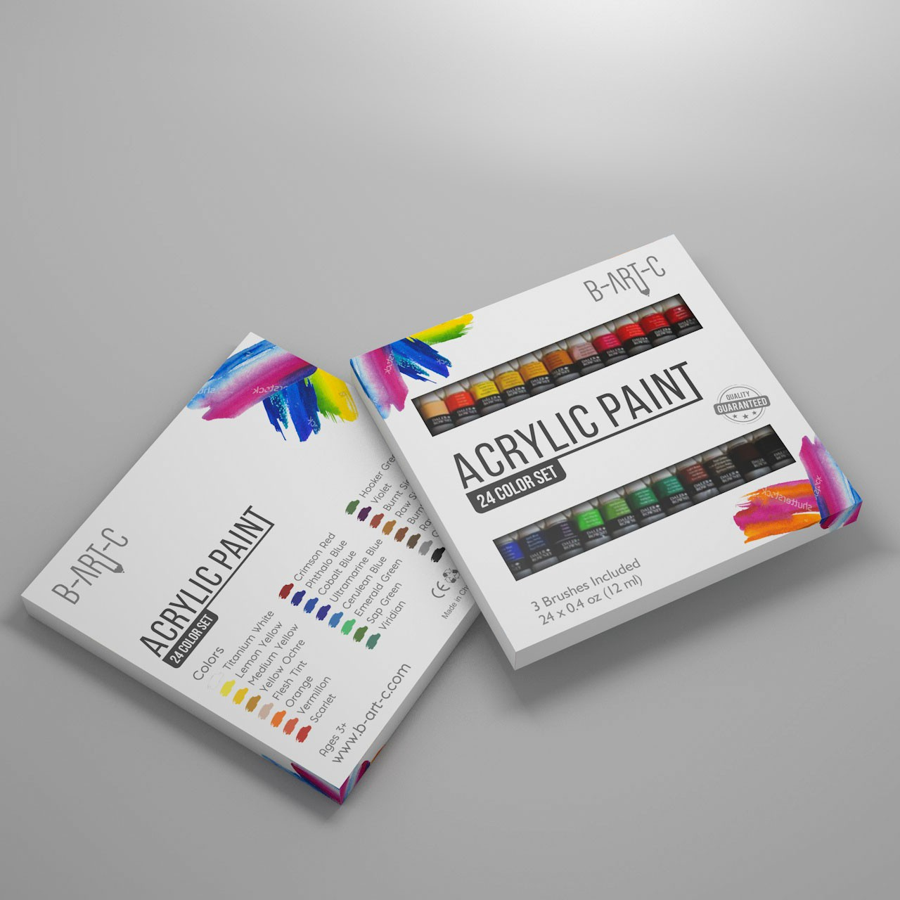 Acrylic Paint Set Package Design - Let's get creative, people!